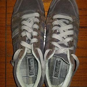 Skechers Brown Plaid Womens Shoes